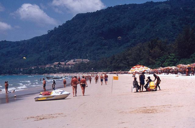 The Patong Beach - Popular tourist attraction