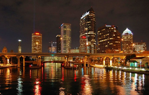 Tampa City At Night