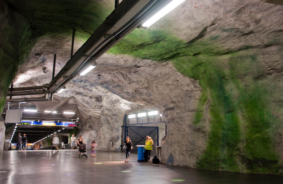 T-Centralen Station , Sweden, Stockholm - The Deepest Subway in the World