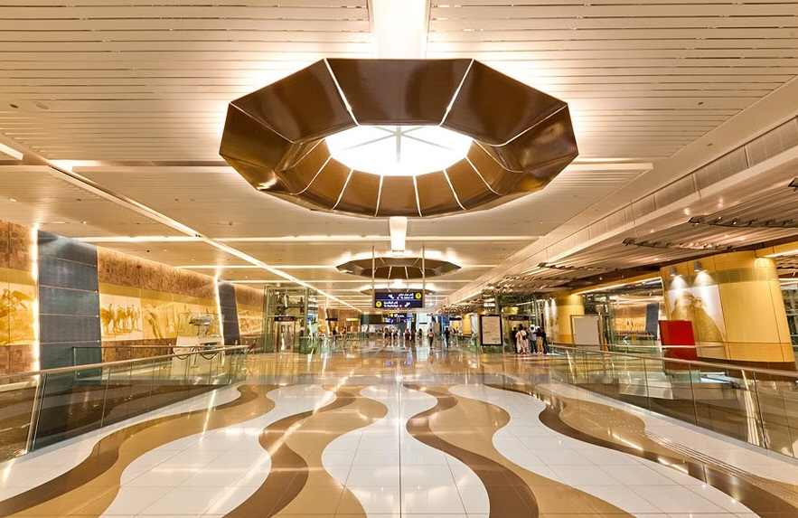 Mall of the Emirates Metro Station, Dubai - Delightful Station