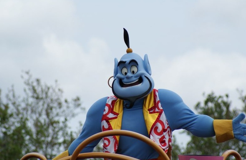Disneyland in Orlando - Dancing genie
