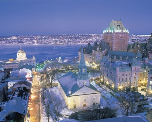 Quebec - Quebec at night