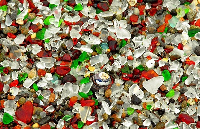 Glass Beach, Fort Bragg - Translucent stones