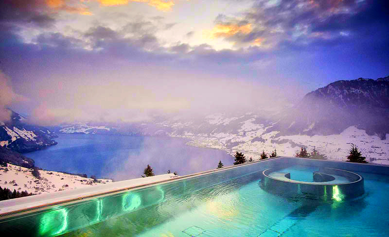 Villa Honegg, Switzerland - Perfect heated swimming pool