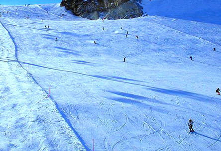 Zermatt,Switzerland - Skiing piste