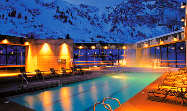 Cliff Lodge, Utah -  Relax in the heated  pool
