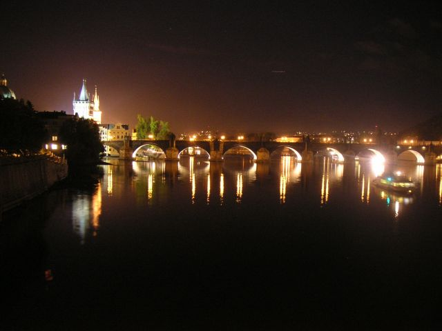 Charles Bridge - Charles Bridge view by night