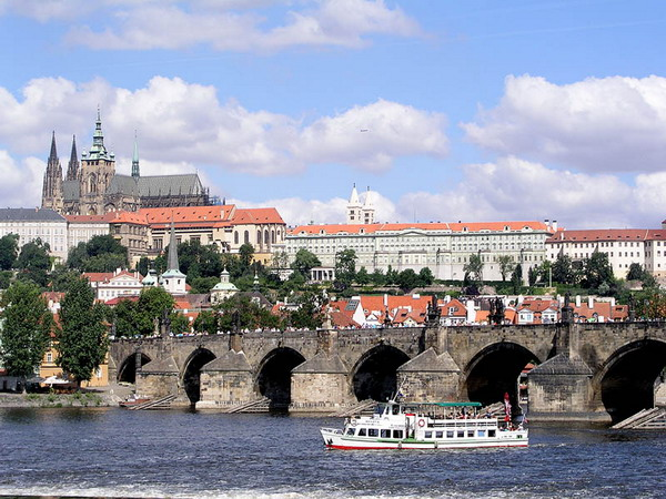 Charles Bridge - Prague Castle and Charles Bridge view
