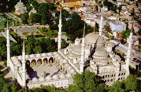 Blue Mosque  - Aerial view of Blue Mosque