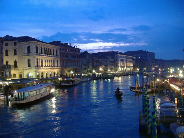 Grand Canal Venice Night The Grand Canal Night View