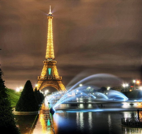 France - Eiffel Tower view by night