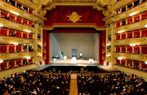 Theatre Museum at La Scala - La Scala interior view