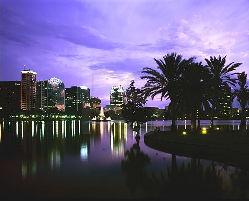 Orlando - Night view of the city