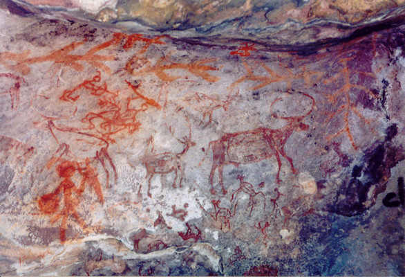 India  - Early traces of human life in Bhimbetka