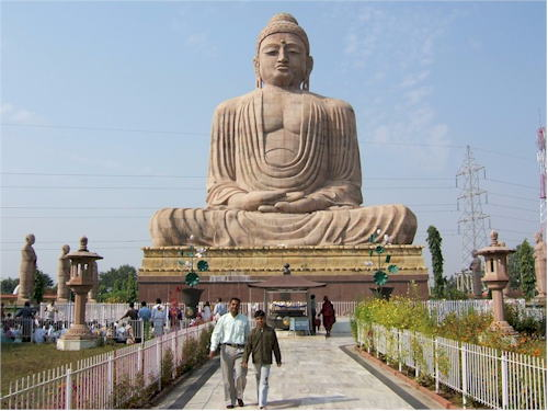 India  - Great Buddha Statue in Bodhgaya