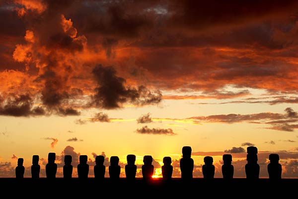 Easter Island - Easter Island at sunset