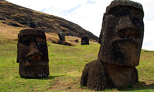 Easter Island - Moai Statues view
