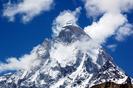 Mount Shivling, Himalaya Mountains in India - Mount Shivling view