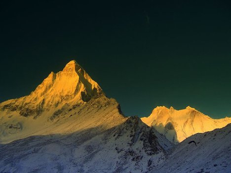 Mount Shivling, Himalaya Mountains in India - View of the Shivling peak