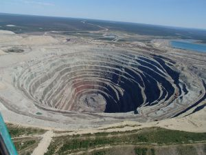 The Udachnaya Pipe Diamond Mine, Russia