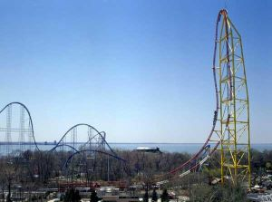 Cedar Point Amusement Park in Ohio, USA