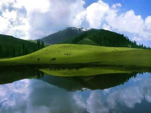 Sheosar Lake in Pakistan