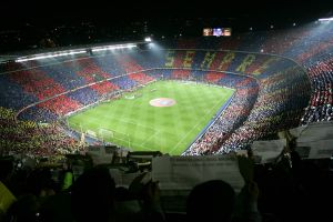 Nou Camp Stadium in Barcelona, Spain