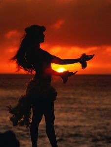 Hula in Hawaii, USA