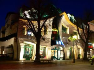 Crooked House in Sopot, Poland
