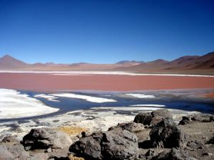 Red Lagoon in Bolivia