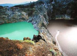 Kelimutu Lakes in Indonesia