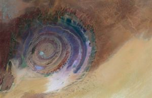 """Eye of the Sahara"" in Mauritania"