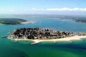 Sandbanks Peninsular in UK