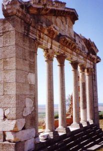 The ruined Corinthian city of Apollonia