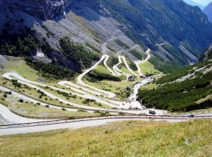 The Stelvio Pass Road