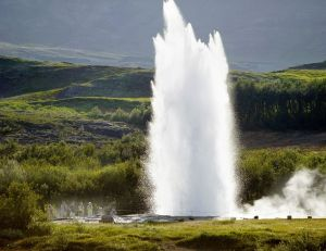 The Strokkur Geyser, Iceland