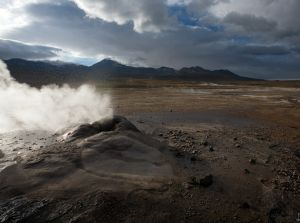 El Tatio Valley of Geysers, Andes, Chile