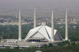 Mosque Faisal in Islamabad, Pakistan