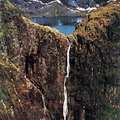 Image Sutherland Falls in New Zealand - The most beautiful waterfalls in the world