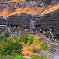 Image Ajanta Caves in Maharashtra, India  - The best places to visit in India