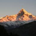 Machapuchare, Himalaya Mountains in Nepal